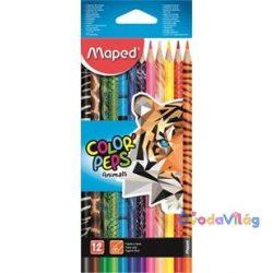 "Színes ceruza készlet 12db-os MAPED ""Color Peps Animal"" háromszögletű-ovodavilag.hu"