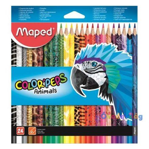 "Színes ceruza készlet 24db-os MAPED ""Color Peps Animal"" háromszögletű - ovodavilag.hu"