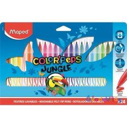 "Filctoll készlet 24db-os MAPED ""Color Peps Jungle"" kimosható - ovodavilag.hu"