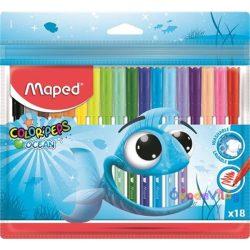"""Filctoll készlet 18db-os MAPED """"Color Peps Ocean"""" - ovodavilag.hu"""