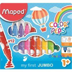 """Filctoll készlet 12db-os MAPED """"Color Peps Maxi"""" mosható - ovodavilag.hu"""