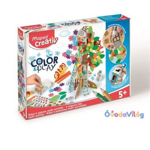 """Kreatív készségfejlesztő készlet MAPED CREATIV, """"Color and Play"""" négy évszak fa"""