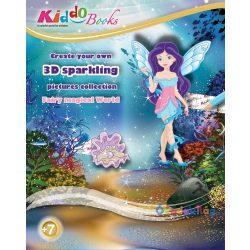 Tündérek világa 3D csillogó képek foglalkoztató Kiddo Books-ovodavilag.hu