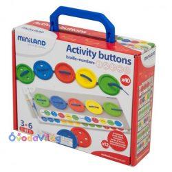 Fűzős játék gombokkal-Miniland