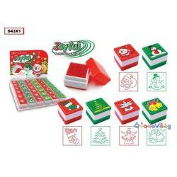Karácsonyi nyomda 6 féle négyszög alakú