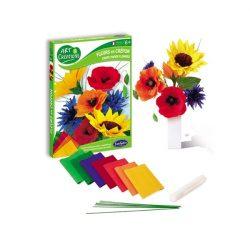 Krepp virág készítő szett-Vadvirágok