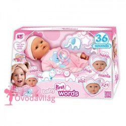 Interaktív újszülött baba hanggal