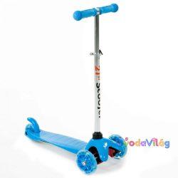 Háromkerekű világító roller kék