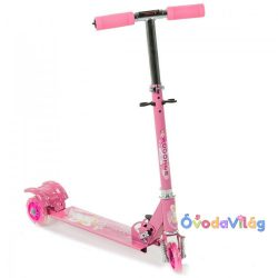 Háromkerekű világító gyerek roller rózsaszín